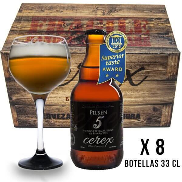 Cerveza Cerex Pilsen 8 botellas