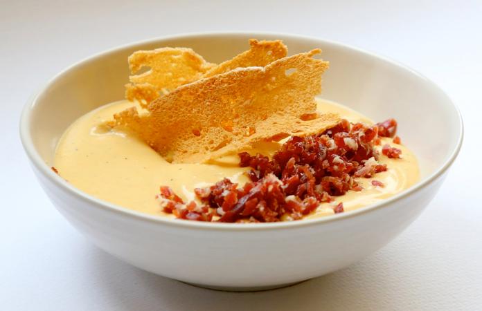 receta de crema de calabaza con jamón ibérico